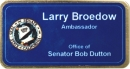 Ambassador Style Sublimated Badge