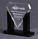 Clear Diamond Award with Black Base