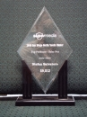 Elegant Diamond Award with Black Stand