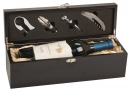 Matte Black Finish Single Wine Presentation Box w/ tools