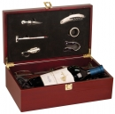 Rosewood Piano Finish Single Wine Predentation Box w/ tools and