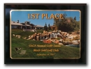 912 Black Satin Sublimated Plaque